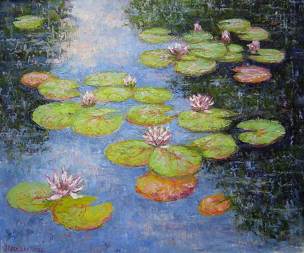 Waterlilies by Julia Lesnichy