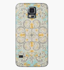 Gypsy Floral in Soft Neutrals, Grey & Yellow on Sage Case/Skin for Samsung Galaxy