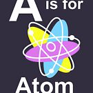 A is for Atom (dark shirts) by ScienceMum