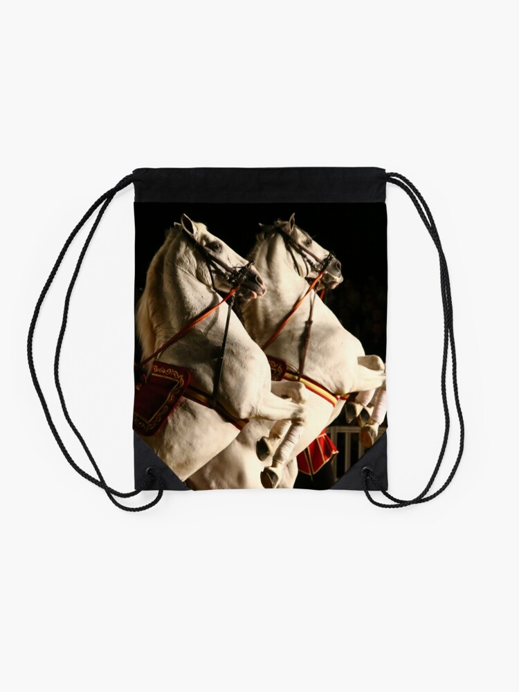 Alternate view of Hoofs High in Rota, Spain! Drawstring Bag