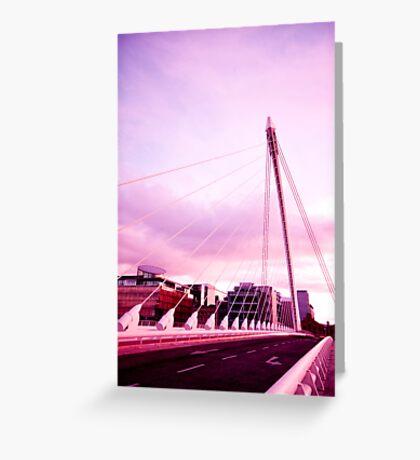 Samuel Beckett Bridge Greeting Card