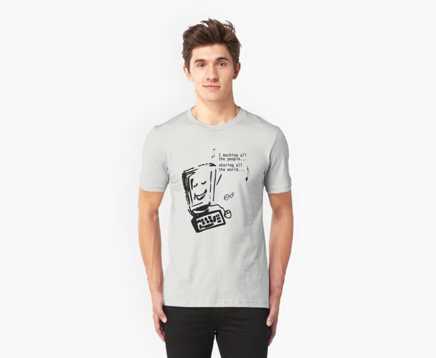 Imagine - John Lennon - Funny T-shirt by Denis Marsili
