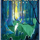 Caddo Lake Texas Travel Poster by Minnow Mountain