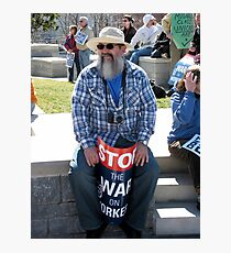 Protester Photographic Print