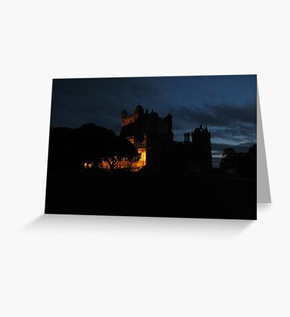 Wollaton  Hall by light Greeting Card