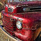 Old Red Truck by RetroArtFactory