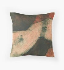 drypoint and collagraph Throw Pillow