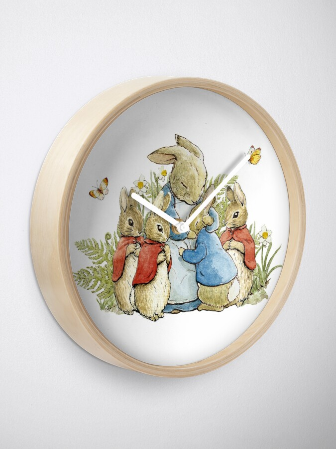 Alternate view of Peter Rabbit With His Family - Beatrix Potter Clock