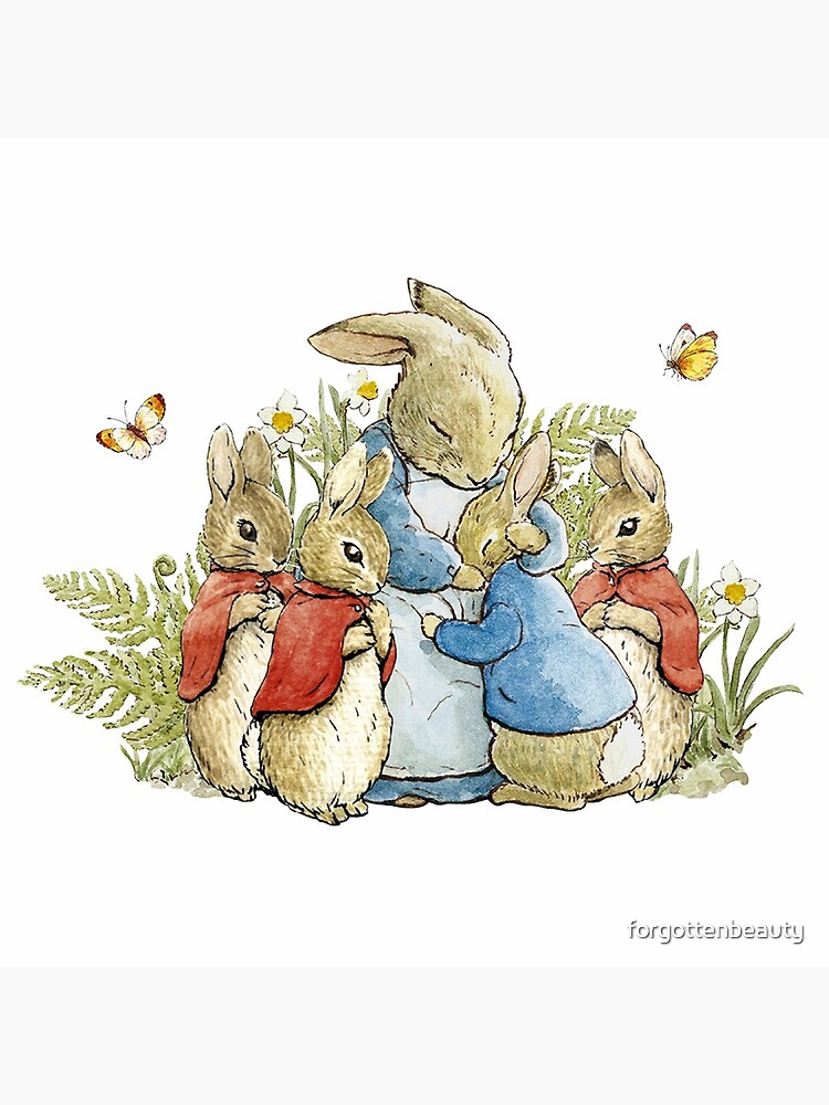 Peter Rabbit With His Family - Beatrix Potter by forgottenbeauty