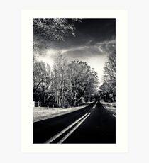 Black Tar Road Art Print