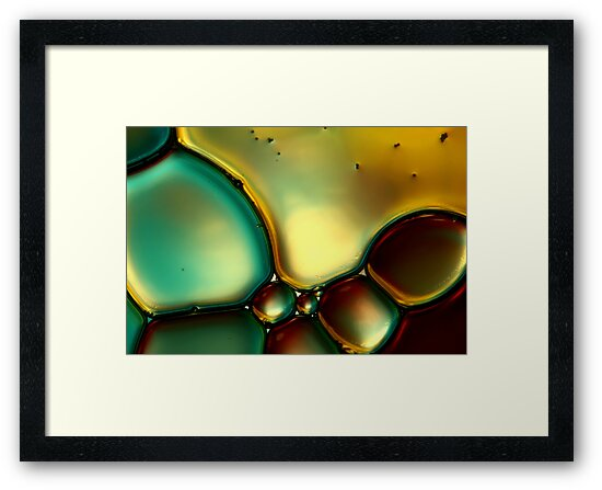 Oil & Water Abstract I by Sharon Johnstone