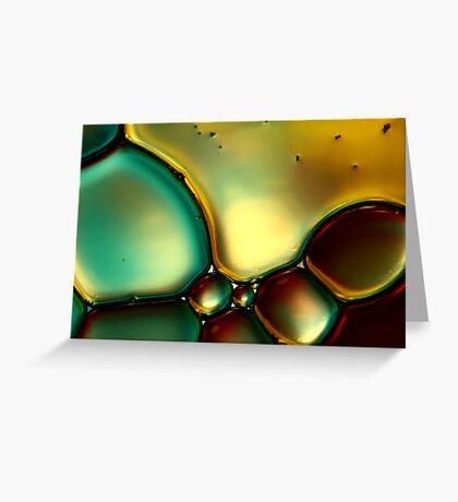 Oil & Water Abstract I Greeting Card