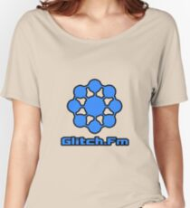 Glitch.Fm Logo - Blue Women's Relaxed Fit T-Shirt