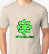 Glitch.Fm Logo - Green Unisex T-Shirt