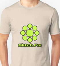 Glitch.Fm Logo - Bright Green Unisex T-Shirt