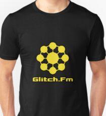 Glitch.Fm Logo - Yellow Unisex T-Shirt