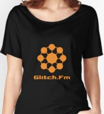 Glitch.Fm Logo - Orange Women's Relaxed Fit T-Shirt