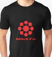 Glitch.Fm Logo - Red Unisex T-Shirt
