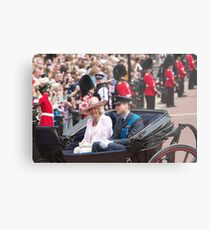 Prince William with Camilla Metal Print
