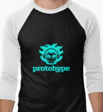 Protohype Logo - Blue Men's Baseball ¾ T-Shirt