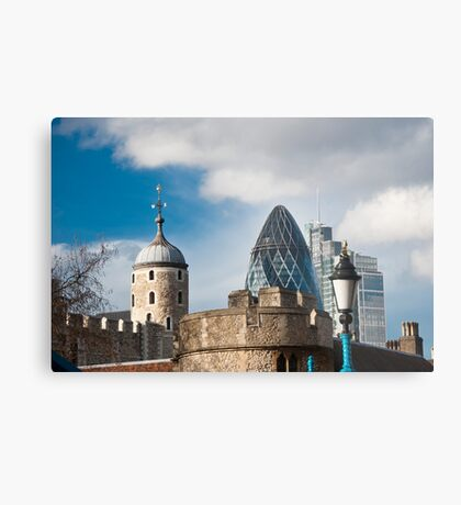 The Tower of London & Gherkin: City Views Metal Print