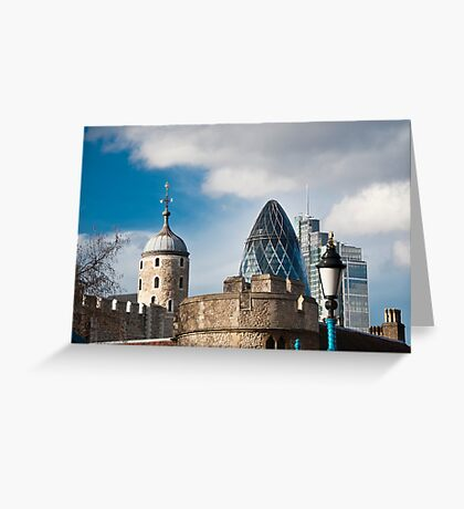 The Tower of London & Gherkin: City Views Greeting Card