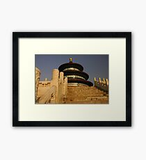 Stairway to (the Temple of) Heaven Framed Print