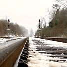 Train Tracks in the Snow by shilohrachelle