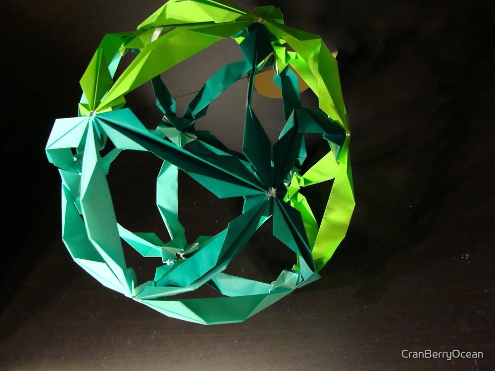 Green Kusudama by CranBerryOcean