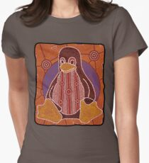 Tux (Solid background) Women's Fitted T-Shirt