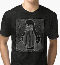 Tux (Monochrome) Tri-blend T-Shirt