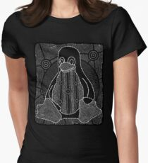 Tux (Monochrome) Women's Fitted T-Shirt