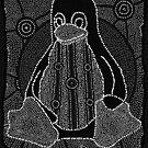Tux (Monochrome) by Linux Australia