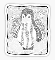 Tux (Monochrome) Sticker