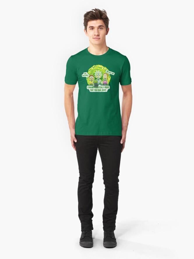 Alternate view of U = SH*T Slim Fit T-Shirt