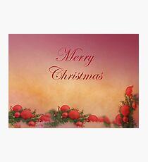Decorative Merry Christmas With Harmony Photographic Print