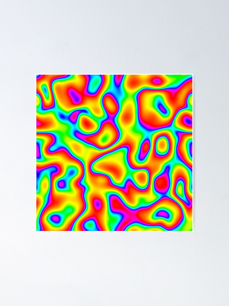 Alternate view of Rainbow Chaos Abstraction Poster