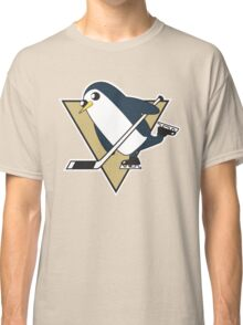 Pittsburgh Penguins x Gunther Mashup - Gunther Playing Hockey Logo Mixup Classic T-Shirt