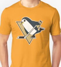 Pittsburgh Penguins x Gunther Mashup - Gunther Playing Hockey Logo Mixup Unisex T-Shirt