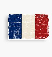 France Flag - Vintage Look Canvas Print