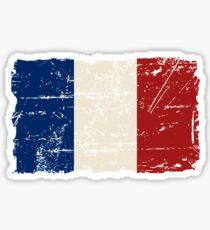 France Flag - Vintage Look Sticker