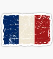 France Flag - Vintage Look Sticker
