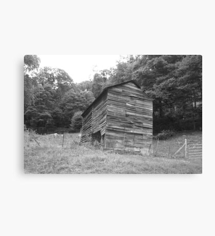 Black and White Barn - Mars Hill, N.C. Canvas Print