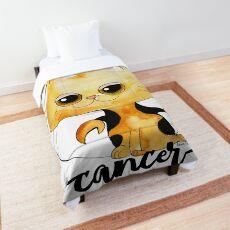 Cancer Meow Cat Zodiac Sign Comforter