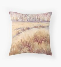 Grasses on Strensall Common Throw Pillow