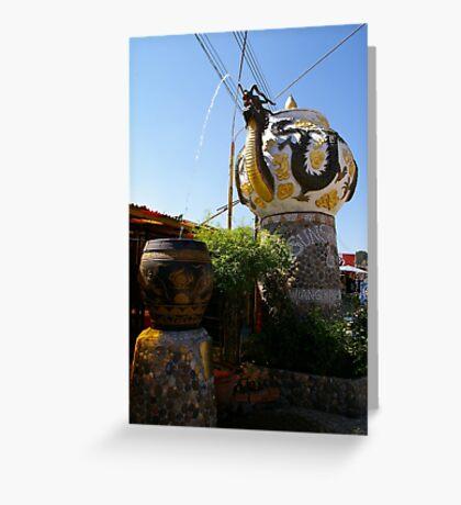 Dragon Teapot Fountain Greeting Card