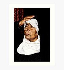 Bedouin woman with tatoos Art Print