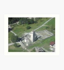 La chiesa vecchia di Macugnaga - Monte Rosa . Italy . Europa Art Print