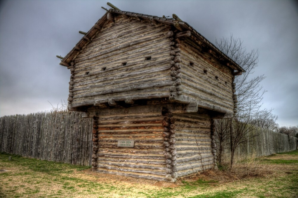 Ft. Parker Stockade and Guard Tower by Terence Russell