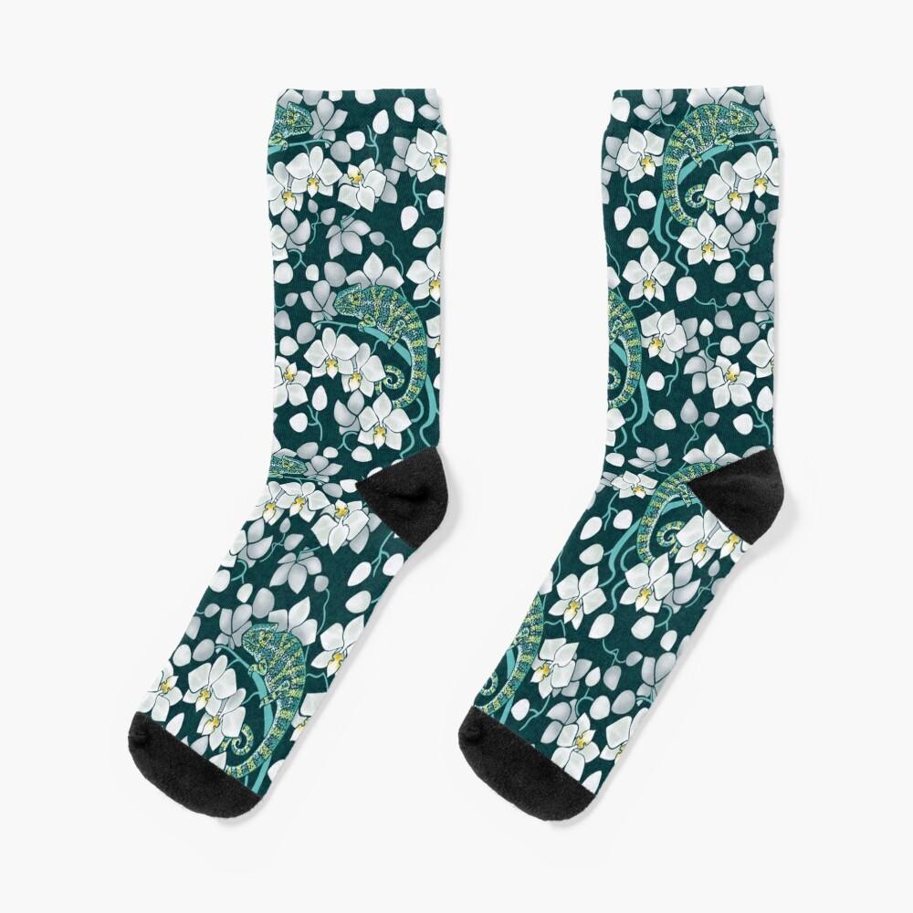 chameleons and orchids  Socks